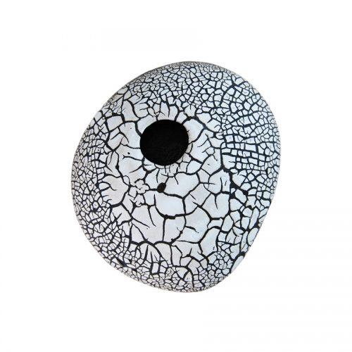 Väggvas/Väggkruka i stengodskeramik av Cajsa Carlenius