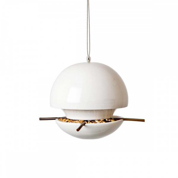 Fågelmatare Birdball för fröblandning vit