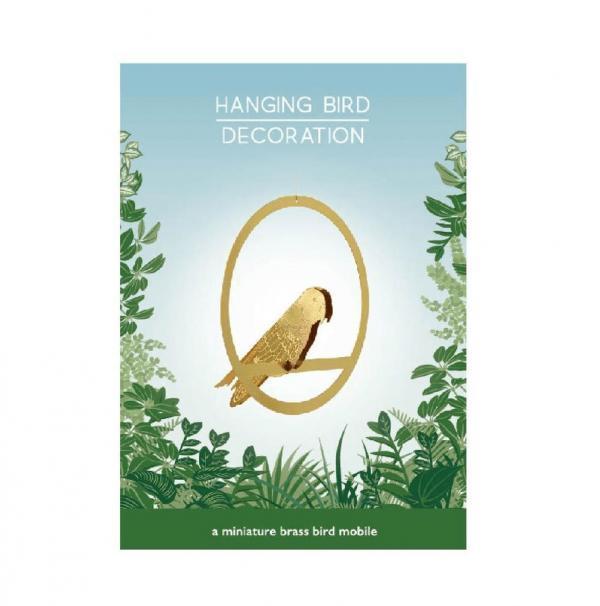 Hängande fågel dekoration mässing - Plant Animals