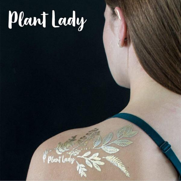 Golden Body Art Plant Lady