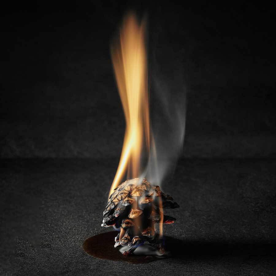 Braskotten brinnande